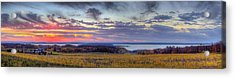 Panorama From Old Mission Peninsula Acrylic Print by Twenty Two North Photography