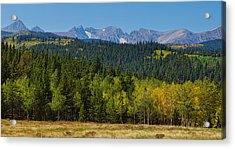 Panorama Scenic Autumn View Of The Colorado Indian Peaks Acrylic Print by James BO  Insogna