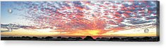 Panoramic Beach Sunset Acrylic Print
