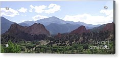 Panoramic Garden Of The Gods Acrylic Print