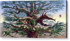 Panoramic Lorn Tree From Arboregal Acrylic Print