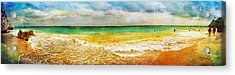 Panoramic Seaside At Tulum Acrylic Print by Tammy Wetzel