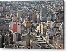 Panoramic View Of Sao Paulo Acrylic Print by Jacobo Zanella