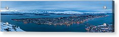 Panoramic View Of Tromso In Norway  Acrylic Print by Ulrich Schade