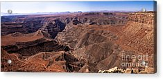 Panormaic View Of Canyonland Acrylic Print by Robert Bales
