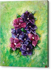 Pansy Expression Acrylic Print