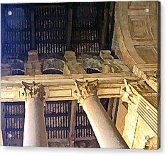 Pantheon Columns Acrylic Print by Mindy Newman