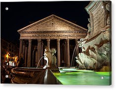 Pantheon Rome Acrylic Print by Stavros Argyropoulos