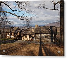 Papa Toms Cabin In The Woods Acrylic Print by Robert Margetts