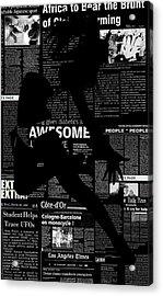 Paper Dance Acrylic Print by Naxart Studio