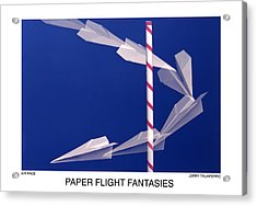 Paper Flight Fantasies - Air Race Acrylic Print by Jerry Taliaferro
