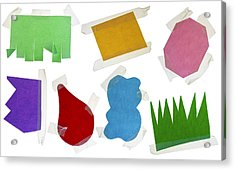 Paper Multi-colored Blank Slices  For Notes Acrylic Print by Aleksandr Volkov