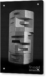 Paper Scuplpture Acrylic Print by Igor Kislev