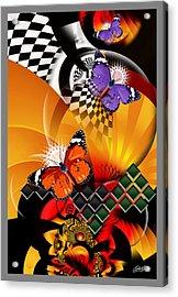 Papillon Pachouli Acrylic Print by Satish Verma