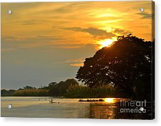 Papua New Guinea Sunset Acrylic Print by Anne Gordon