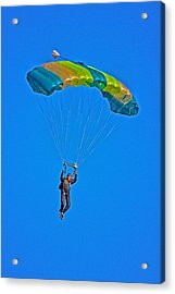 Parachuting Acrylic Print by Karol Livote