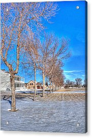 Parade Grounds - Fort Laramie  Acrylic Print by HW Kateley