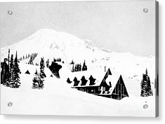 Paradise Inn Buried In Snow, 1917 Acrylic Print by Science Source