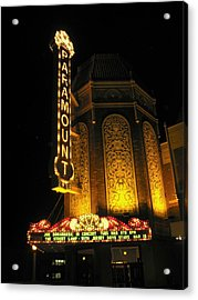 Paramount Theatre Illinois Acrylic Print by Todd Sherlock