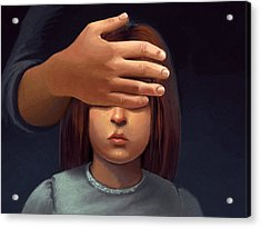 Paranormal Girl Acrylic Print by Michael Keene