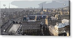 Paris 01 Acrylic Print by Yuriy  Shevchuk