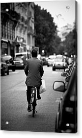 Paris By Bike Acrylic Print by Edward Myers