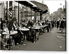 Acrylic Print featuring the photograph Paris Cafe by Eric Tressler