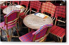 Paris Cafe Acrylic Print by Tony Grider