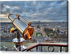 Paris Cityscape Acrylic Print by Romain Villa Photographe