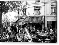 Paris Corner Acrylic Print by Tanya  Searcy