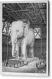 Paris: Elephant Monument Acrylic Print by Granger