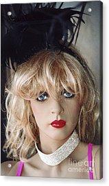 Paris Female Mannequin Art Deco Acrylic Print by Kathy Fornal