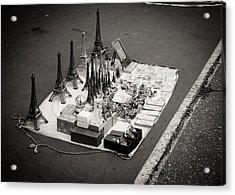 Paris For Sale Acrylic Print by Edward Myers