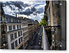 Paris From A Balcony Acrylic Print by Edward Myers