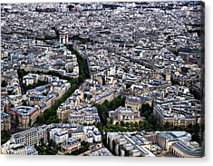 Paris From Above 2 Acrylic Print by Edward Myers
