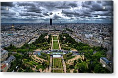 Paris From Above Acrylic Print by Edward Myers