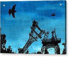 Paris Is Falling Down Acrylic Print by Jera Sky