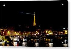 Paris Night Acrylic Print by Keith Stokes