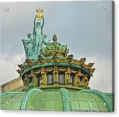 Acrylic Print featuring the photograph Paris Opera House Roof by Dave Mills