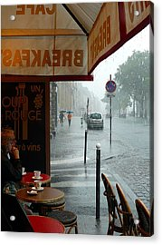 Acrylic Print featuring the photograph Paris Pluie by Rdr Creative