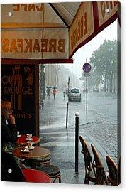Paris Pluie Acrylic Print by Rdr Creative