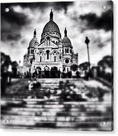 #paris #sky #skyporn #bnw #stairs Acrylic Print by Ritchie Garrod
