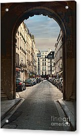 Acrylic Print featuring the photograph Paris Street by Kim Wilson