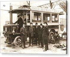 Paris To Berlin Steam Omnibus 1900 Acrylic Print