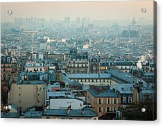 Paris View From Sacre-coeur Acrylic Print by Thanks for visiting my work !!