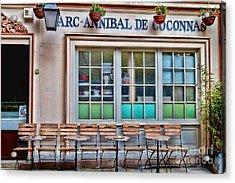 Acrylic Print featuring the photograph Parisian Cafe by Kim Wilson