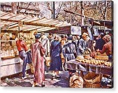 Parisian Market 1954 Acrylic Print