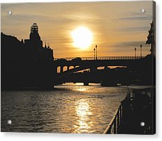 Parisian Sunset Acrylic Print