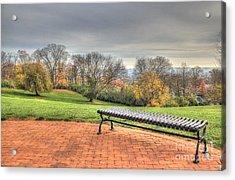 Park Bench Cincinnati Observatory Acrylic Print