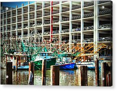 Parked Acrylic Print by Barry Jones